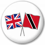 Great Britain and Trinidad and Tobago Friendship Flag 25mm Pin Button Badge